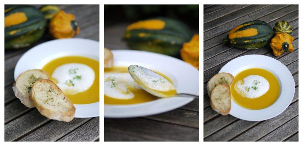 Kürbis-Kokos-Suppe mit Ingwer-Schaum | Rezept | Essen | Kochen | Suppe