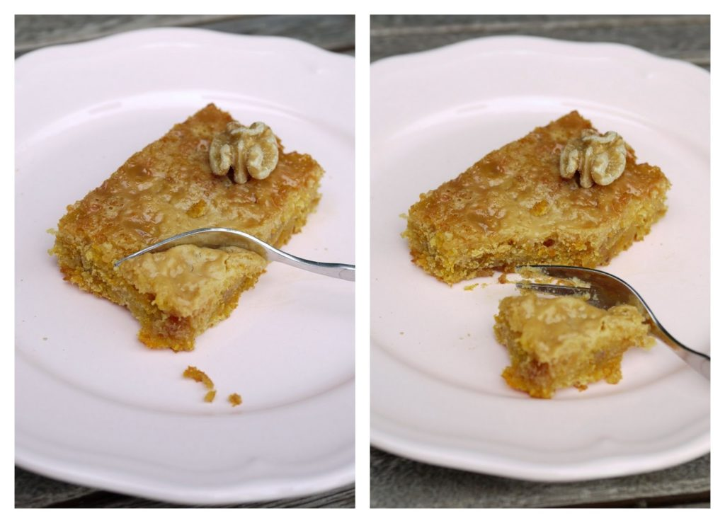 Möhren-Apfel-Kuchen mit Walnüssen und Karamell | Backen | Kuchen