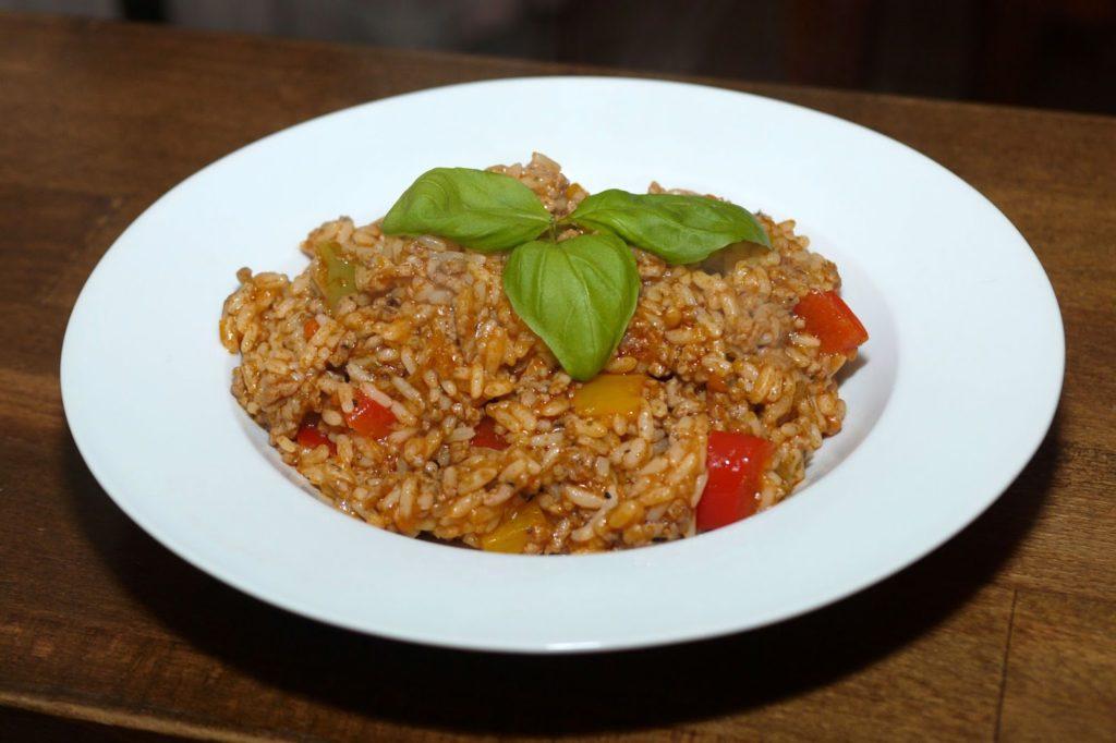 Paprika-Hack-Reis-Pfanne   Rezept   Kochen   Essen