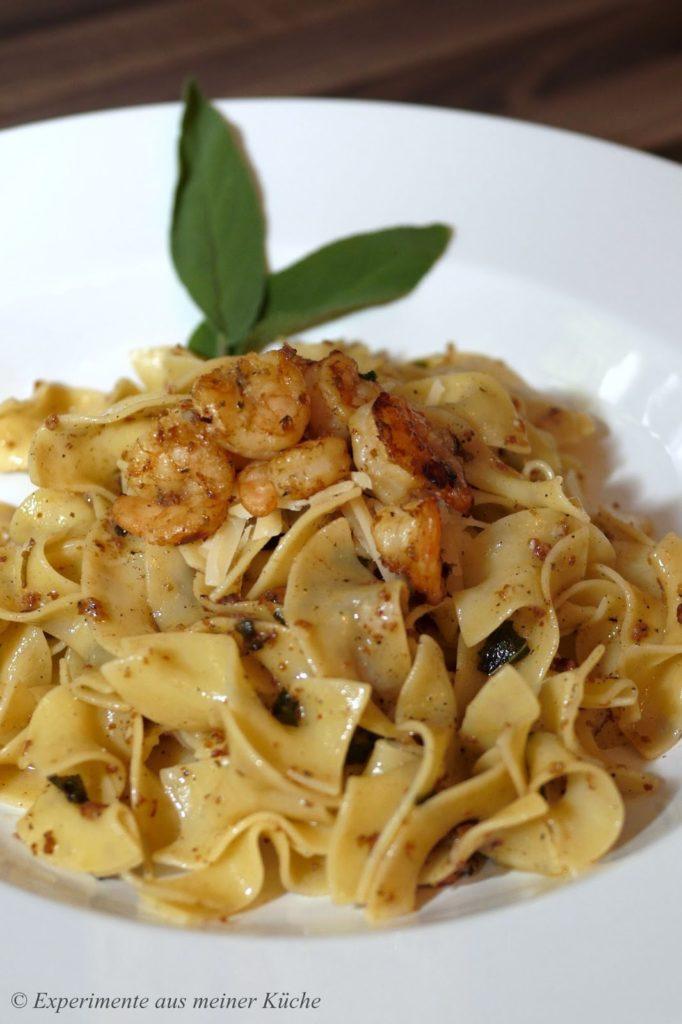 Nudeln mit gebräunter Buttersauce | Rezept | Pasta |Kochen | Essen