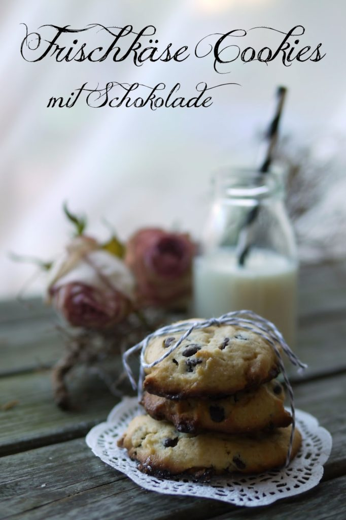 Frischkäse Cookies mit Schokolade | Backen | Rezept | Kekse