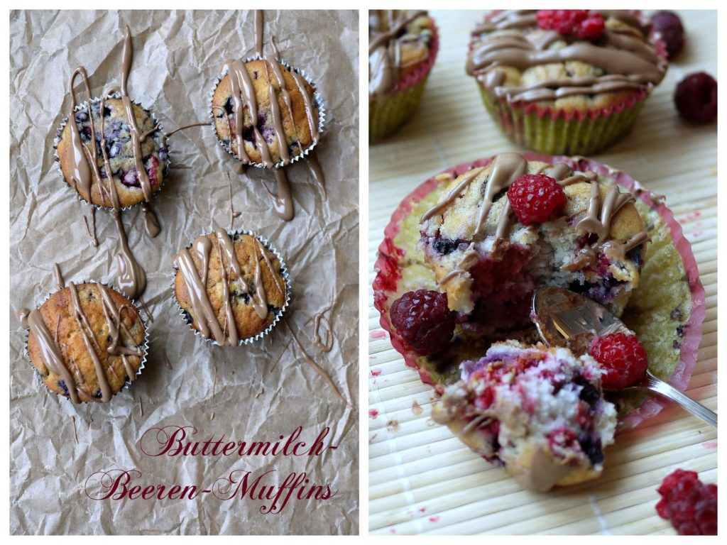Buttermilch-Beeren-Muffins | Backen | Kuchen | Gebäck | Muffins | Rezept