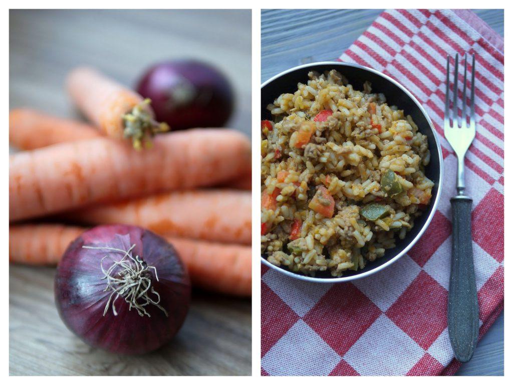 Hackfleisch-Gemüse-Reispfanne | Rezept | Kochen | Essen