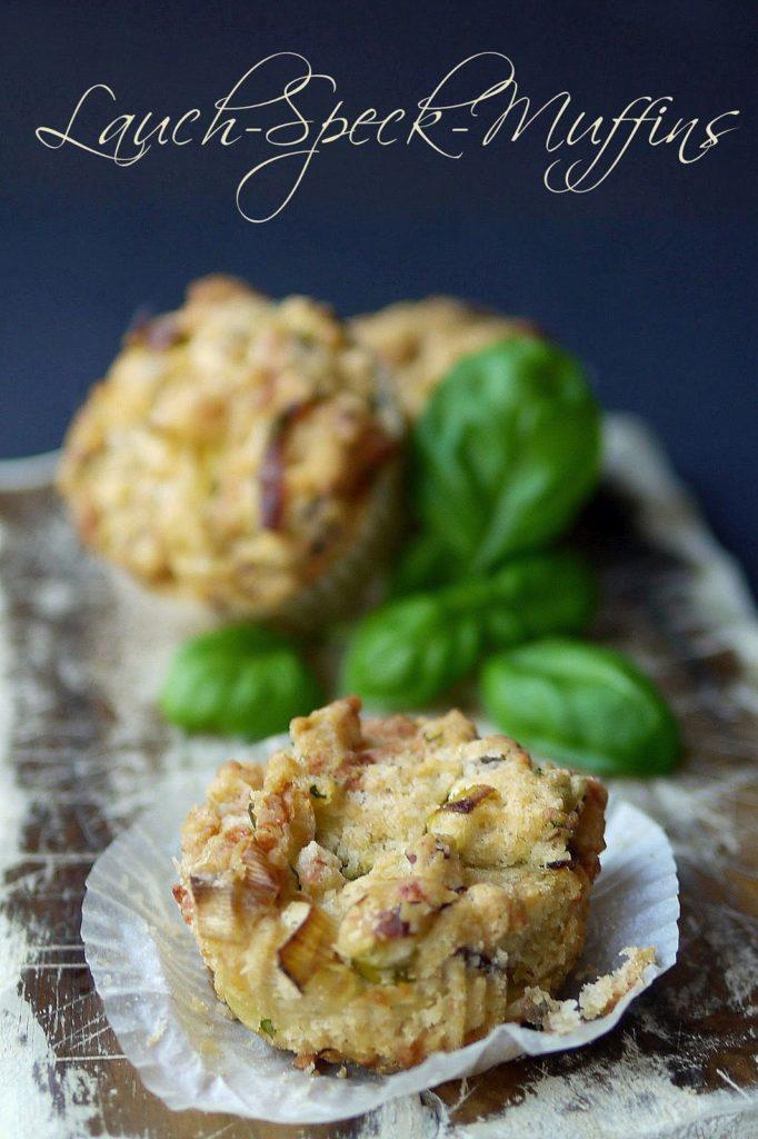 Lauch-Speck-Muffins | Rezept | Backen | herzhaft