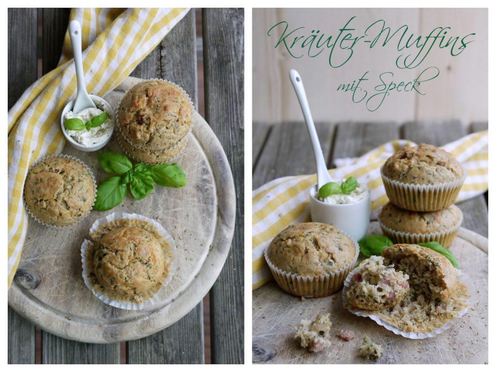 Kräuter-Muffins mit Speck |  Rezept | Backen | Partyfood | Fingerfood