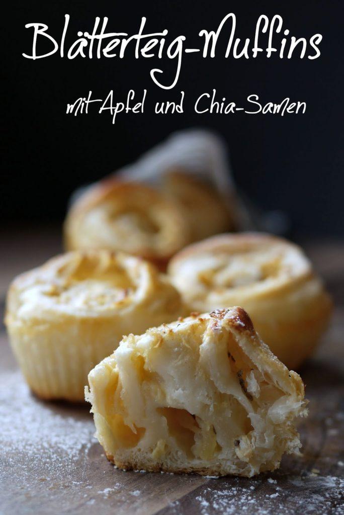 Experimente aus meiner Küche: Blätterteig-Muffins mit Apfel und Chia-Samen