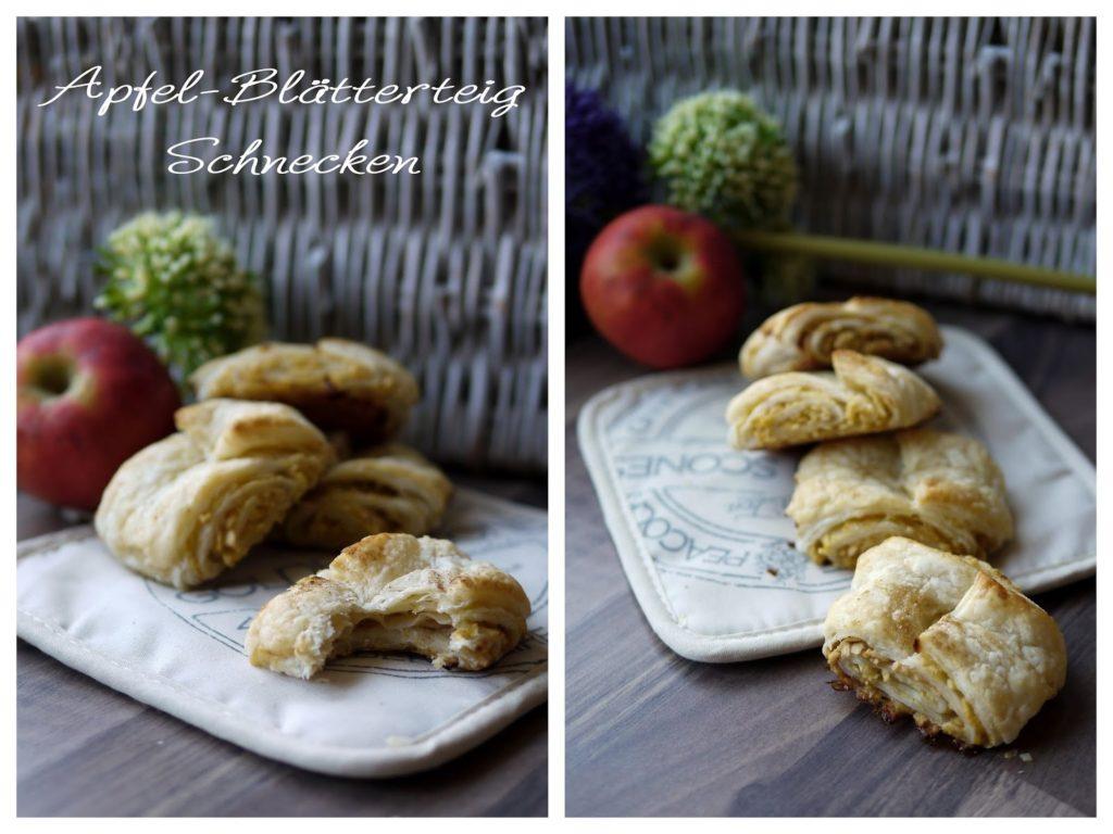 Zu Gast bei SchokoladenFee: Apfel-Blätterteig-Schnecken