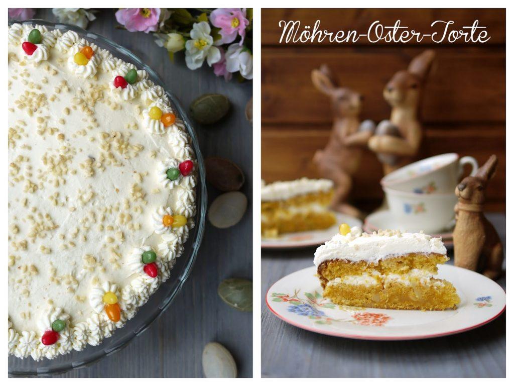 Experimente aus meiner Küche: Möhren-Oster-Torte mit Cream Cheese Füllung