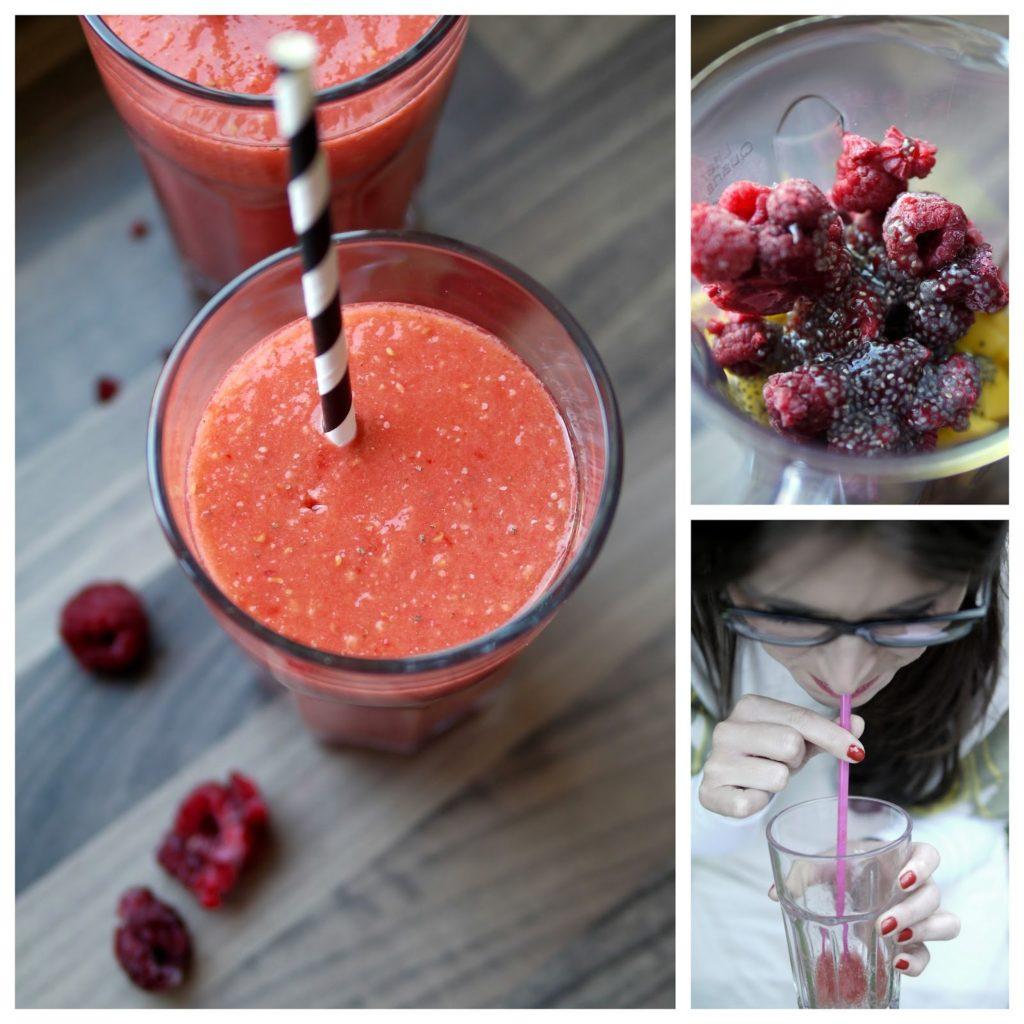 Experimente aus meiner Küche: Mango-Himbeer-Chia-Smoothie