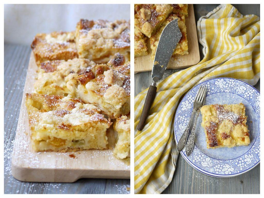 Experimente aus meiner Küche: Rhabarber-Aprikosen-Kuchen mit Schmandguss und Streuseln
