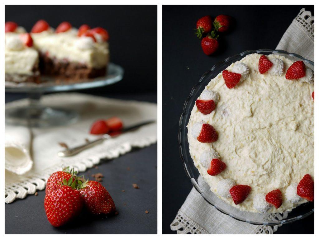 Experimente aus meiner Küche: Erdbeer-Raffaello-Torte mit Schokolade