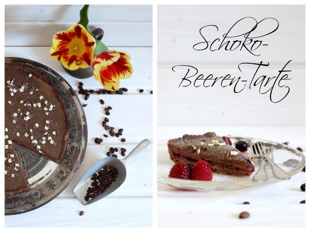 Experimente aus meiner Küche: Schoko-Beeren-Tarte mit einem Hauch Kaffee