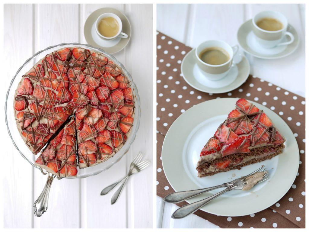 Experimente aus meiner Küche: Erdbeer-Schokomousse-Torte
