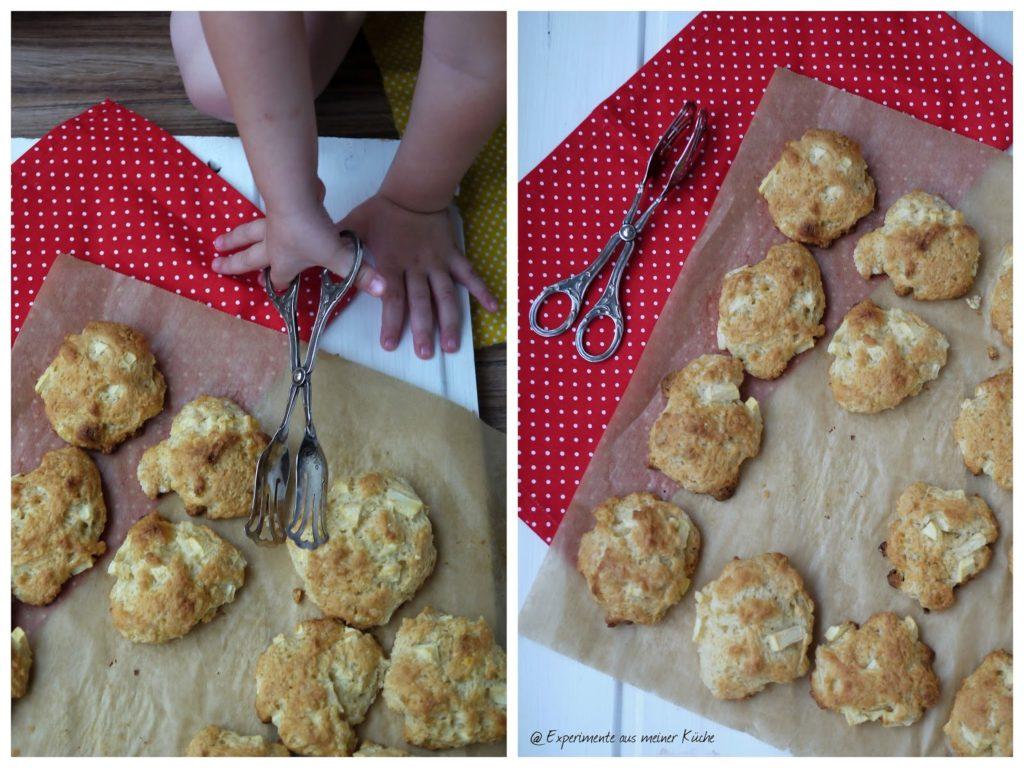 Experimente aus meiner Küche: Apfel-Quark-Taler mit weißer Schokolade