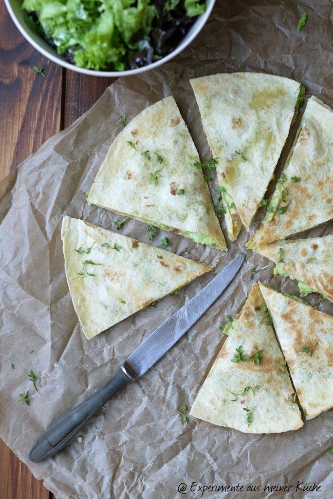 Experimente aus meiner Küche: Avocado Quesadillas mit Speck