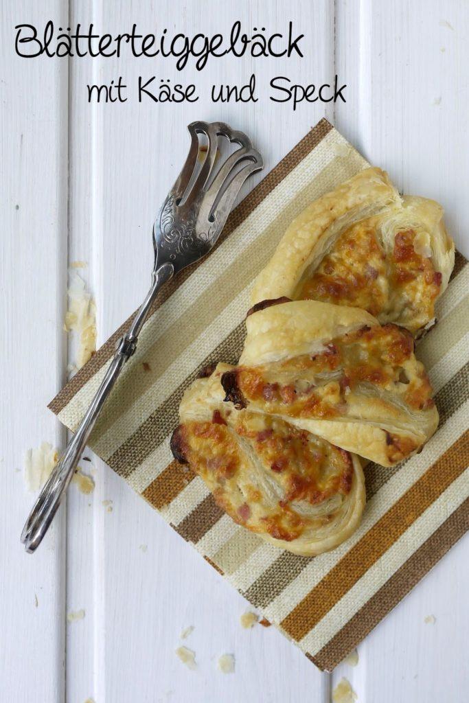 Experimente aus meiner Küche: Blätterteiggebäck mit Käse und Speck