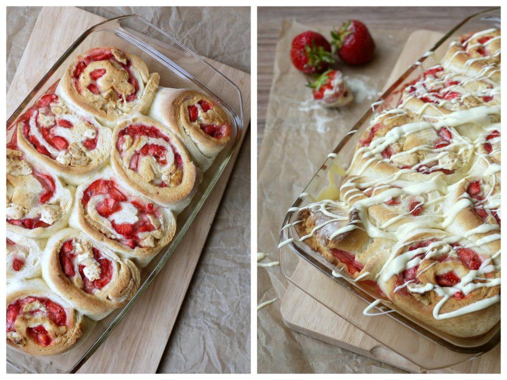 Experimente aus meiner Küche: Erdbeerschnecken mit weißer Schokolade