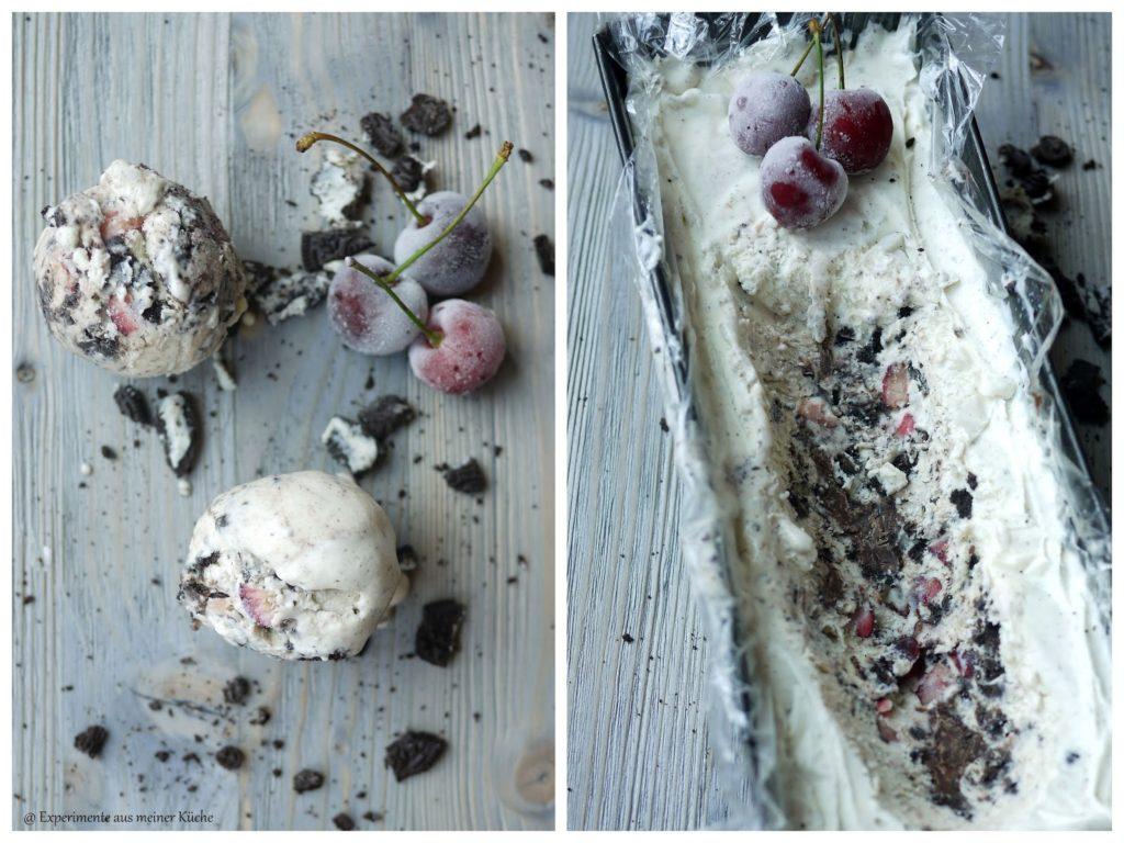Experimente aus meiner Küche: Oreo-Kirsch-Eis (ohne Eismaschine)