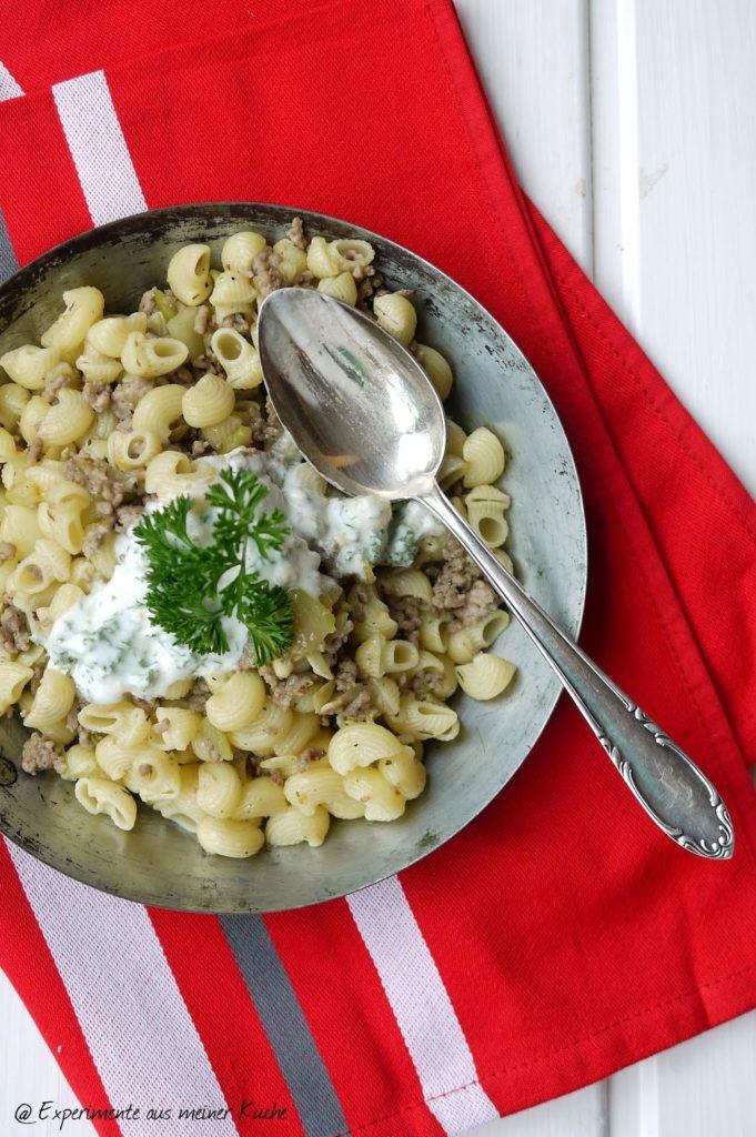 Experimente aus meiner Küche: Türkische Nudel-Hackfleisch-Pfanne