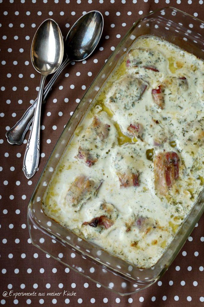 Experimente aus meiner Küche: Hähnchen in Bresso-Sahne-Soße