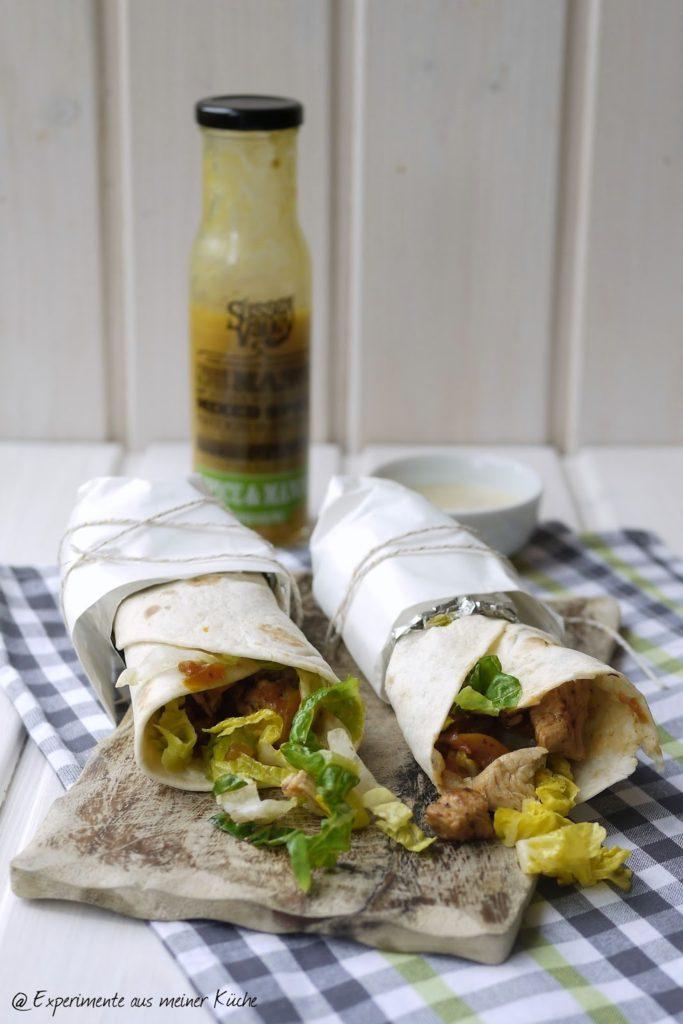 Experimente aus meiner Küche: Putenwraps mit Mango-Chili-Dip