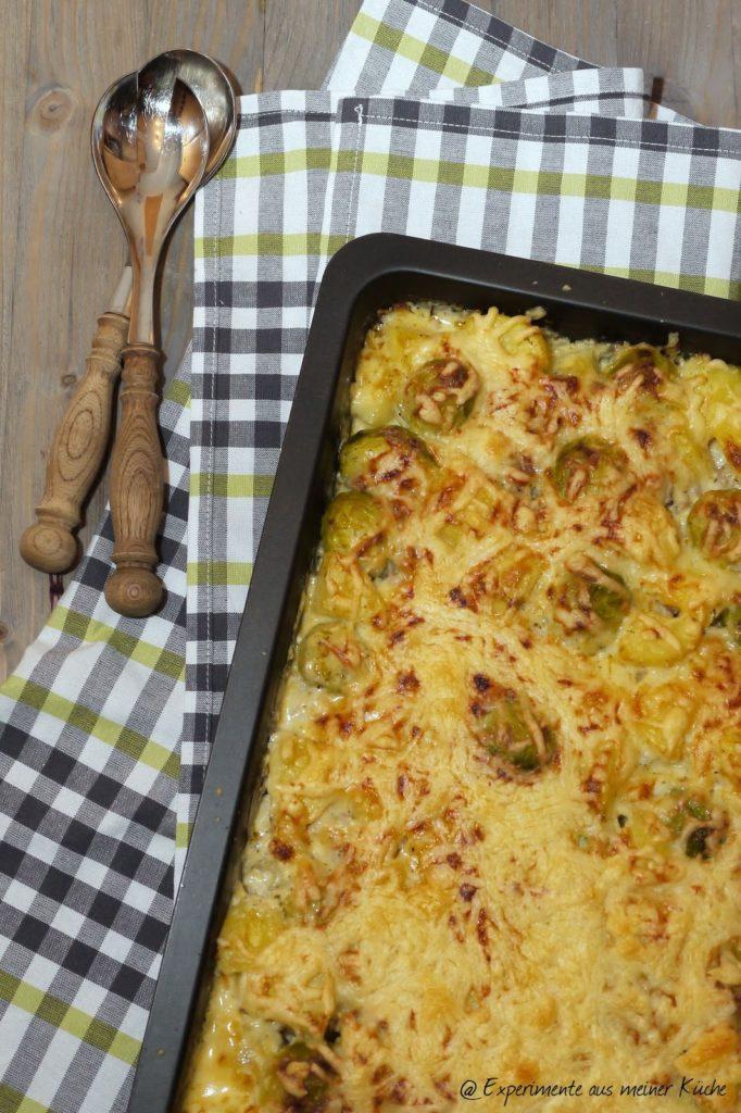 Experimente aus meiner Küche: Rosenkohl-Hack-Auflauf mit Kartoffeln