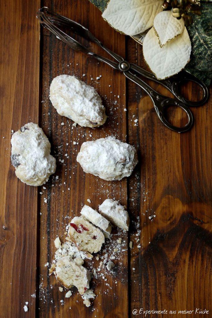 Experimente aus meiner Küche: Mini-Quarkstollen mit Cranberries