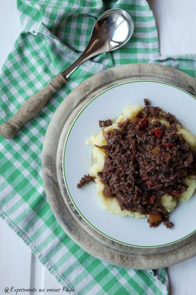 Experimente aus meiner Küche: Rotkohl-Hackfleisch-Pfanne #rotkohlreise