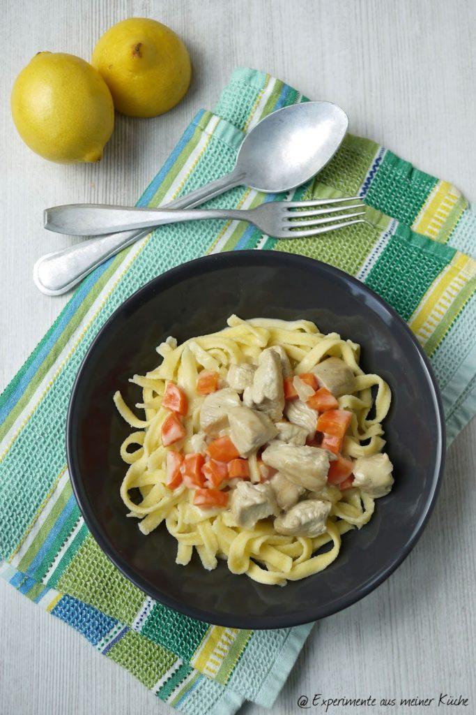 Experimente aus meiner Küche: Puten-Möhren-Geschnetzeltes in Zitronen-Sahnesoße #spätzleparade