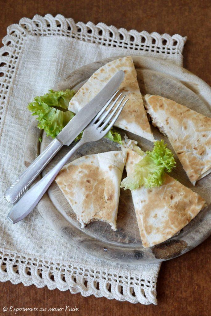 Experimente aus meiner Küche: Thunfisch-Zucchini-Quesadilla