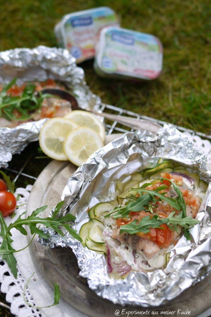 Experimente aus meiner Küche: Lachs-Gemüse-Päckchen vom Grill