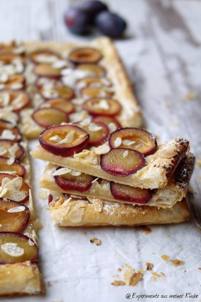 Experimente aus meiner Küche: Zwetschgen-Blätterteig-Tarte mit Marzipancreme