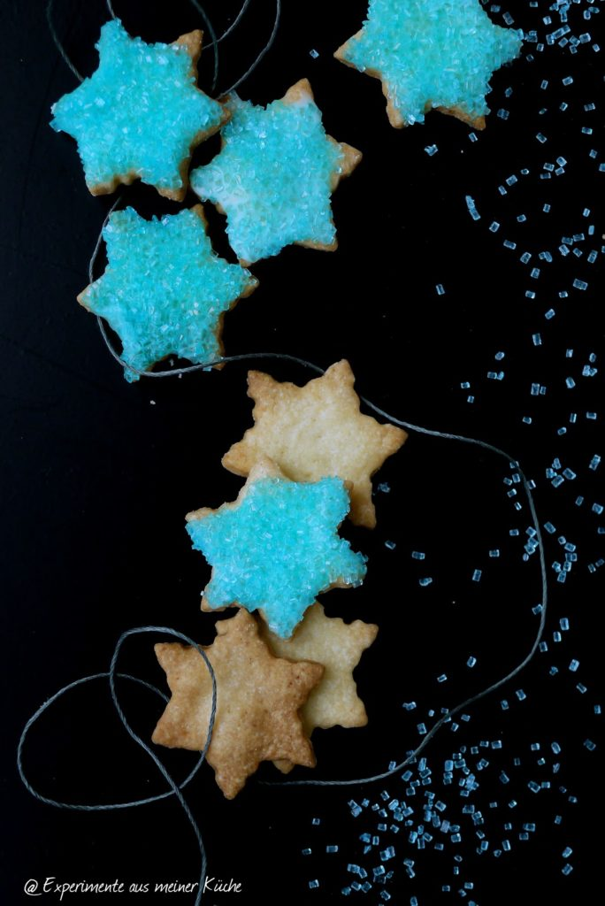 Experimente aus meiner Küche: Saure Sahne-Sterne #intelbluecake [Weihnachtsbäckerei]