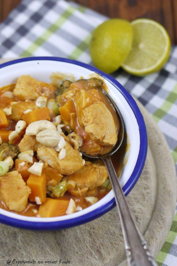 Experimente aus meiner Küche: Süßkartoffel-Kokos-Pfanne mit Hähnchen