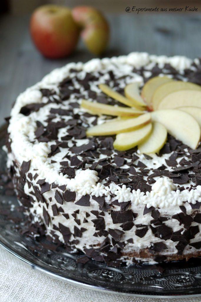 """Experimente aus meiner Küche: Apfeltorte """"Schwarzwälder Art"""""""