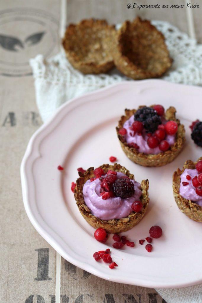 Experimente aus meiner Küche: Granola Cups - essbare Müslischälchen