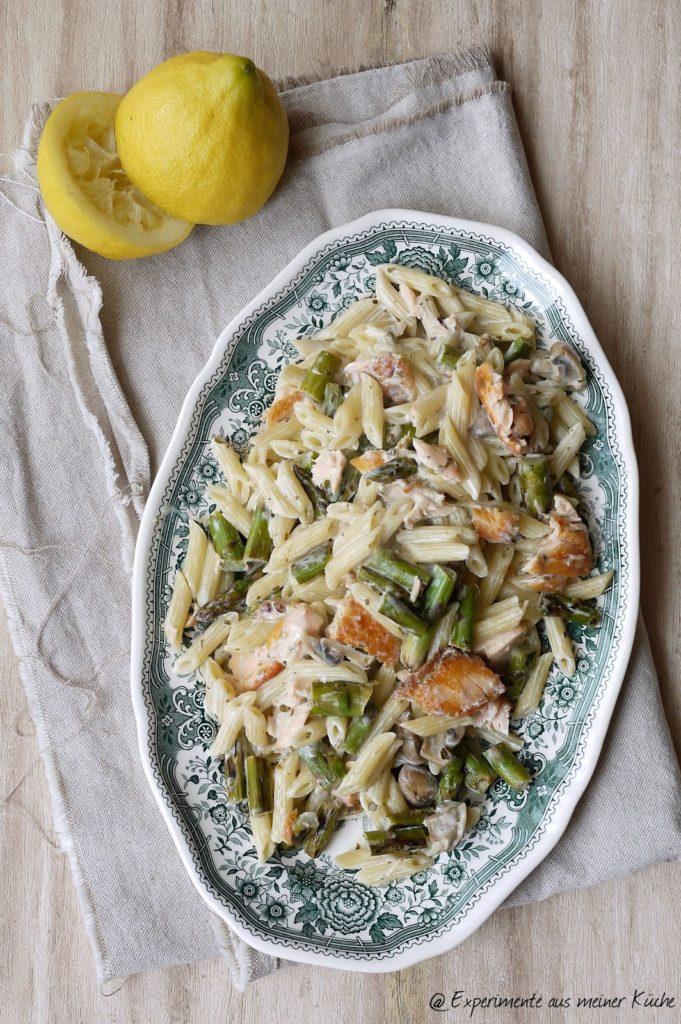 Experimente aus meiner Küche: Spargel-Lachs-Pasta | Kochen | Rezept | Nudeln | Weight Watchers