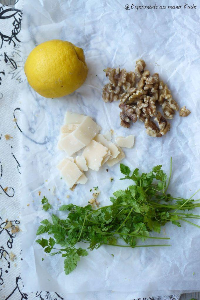 Experimente aus meiner Küche: Spargel-Möhren-Tarte mit Walnuss-Gremolata
