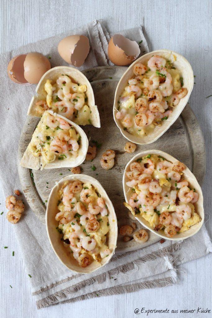 Experimente aus meiner Küche: Rührei-Tortillas mit Krabben