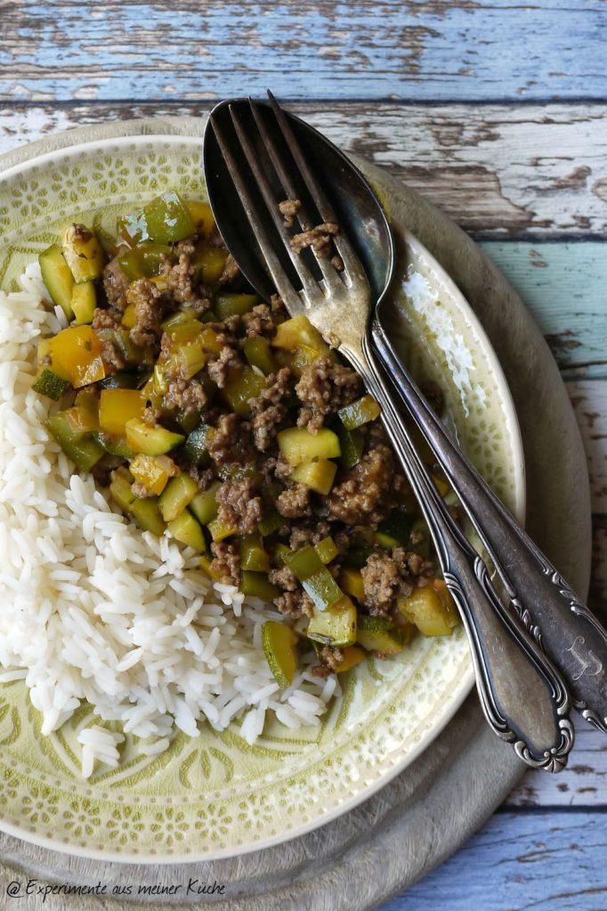 Experimente aus meiner Küche: Hackfleisch-Gemüse-Pfanne