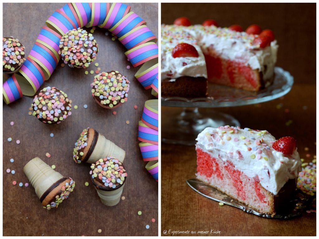 Experimente aus meiner Küche: Waffelbecher-Muffins und Erdbeer-Schmand-Torte