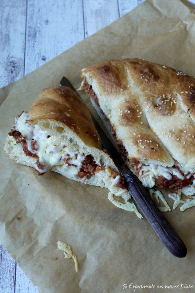 Experimente aus meiner Küche: Bolognese-Fladenbrot-Pizza