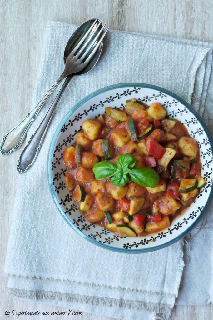Experimente aus meiner Küche: Gnocchi mit italienischem Gemüse