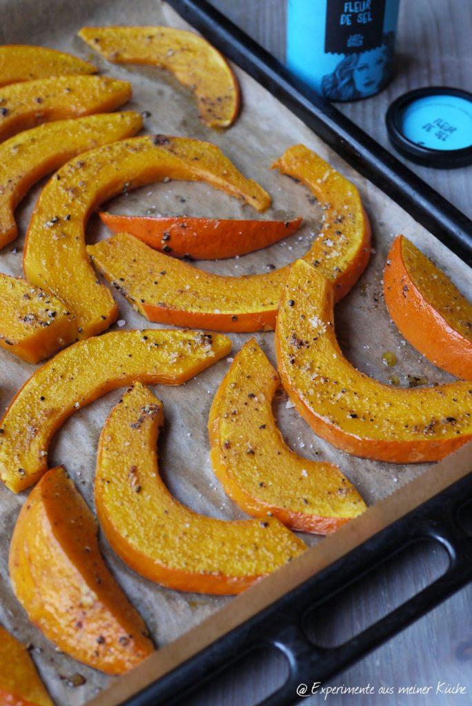 Experimente aus meiner Küche: Kürbisspalten aus dem Ofen