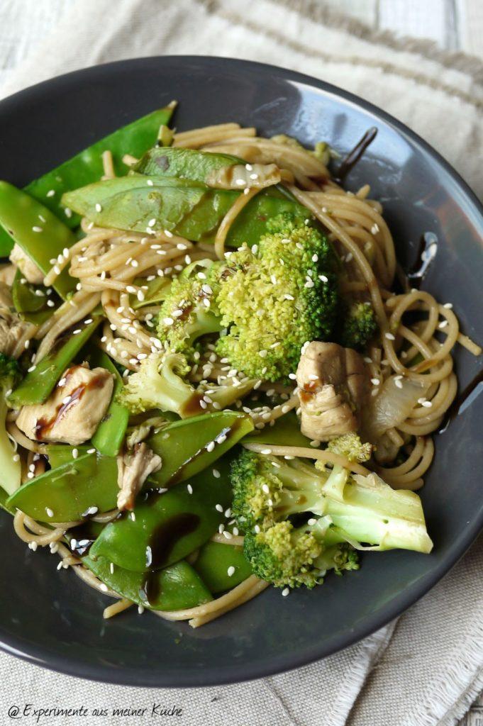 Experimente aus meiner Küche: Spaghetti-Gemüse-Pfanne {Asia Style}