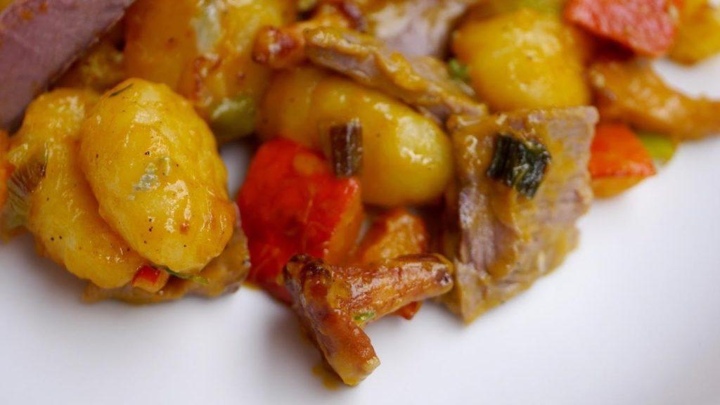 Experimente aus meiner Küche: Gebratene Gnocchi mit Kürbis von Schwanenkost