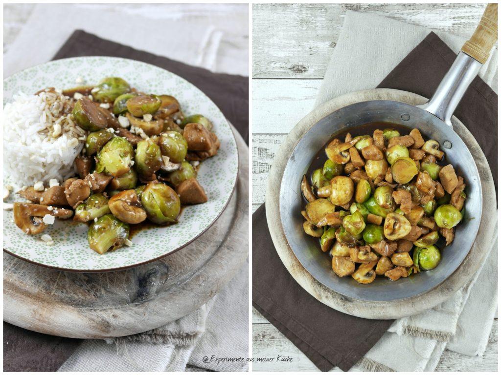 Experimente aus meiner Küche: Asiatische Rosenkohlpfanne