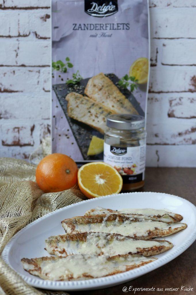 Experimente aus meiner Küche: Zander mit Orangen-Meerrettich-Sauce
