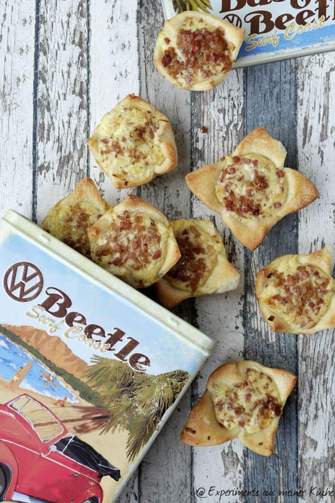 Zwiebelkuchen-Muffins / Onion tart muffins