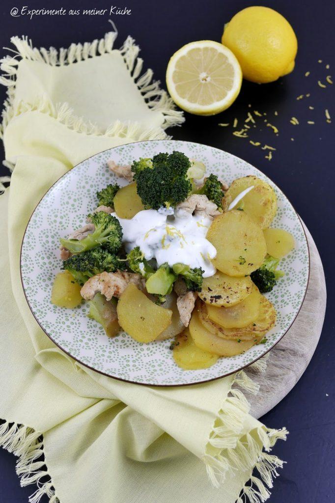 Experimente aus meiner Küche: Kartoffel-Brokkoli-Pfanne mit Zitronendip